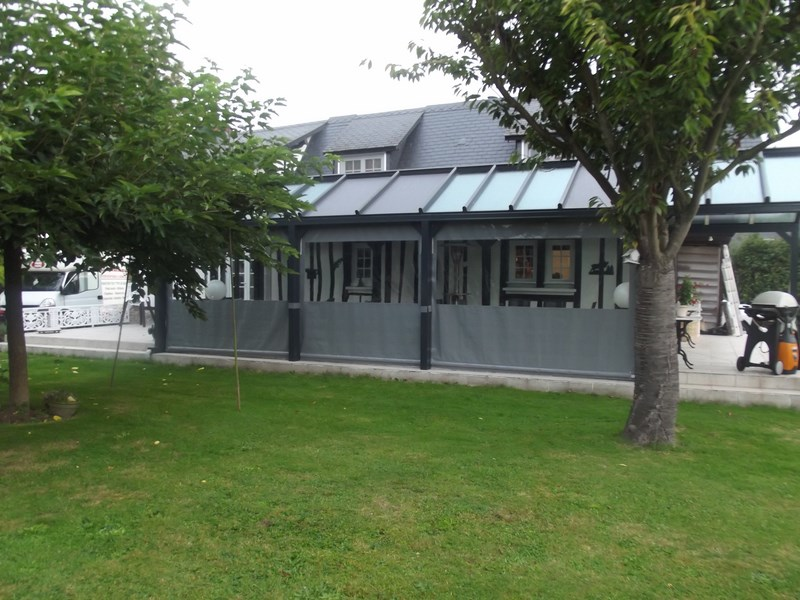 b che de terrasse de mobil home et avanc e de maison b che et auvent sur mesure rouen. Black Bedroom Furniture Sets. Home Design Ideas